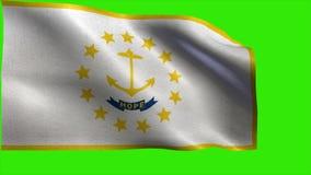 Flag of Rhode Island, RI, - LOOP stock video