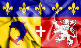 Flag of Rhone-Alpes, France. 3d Rendered Flag of Rhone-Alpes, France Stock Photos