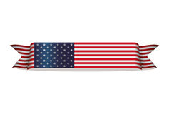 Flag ribbon united states of america Royalty Free Stock Images