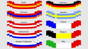 Flag ribbons Royalty Free Stock Photography