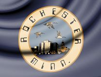 Flag of Rochester, Minnesota. USA. 3d Rendered Flag of Rochester, Minnesota. USA Royalty Free Stock Photo