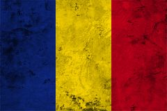 Flag of the Romania close up Stock Photography