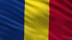 Flag of Romania - seamless loop stock video footage
