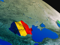 Flag of Romania from space Stock Images