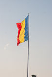 Flag of Romania on a sunny day Royalty Free Stock Photography
