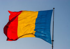 Flag of Romania on a sunny day Royalty Free Stock Images