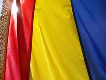 Flag of Romania Stock Photo