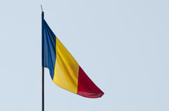 Flag. Romanian flag in the wind Stock Images