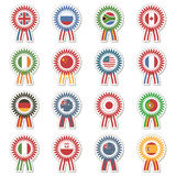 Flag rosettes Stock Photo