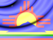 Flag of Roswell, USA. Royalty Free Stock Image