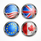 Flag round icons Stock Images