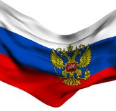 Flag of Russia. Against white background Stock Photography