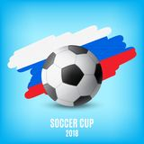 Flag of Russia and ball Royalty Free Stock Images