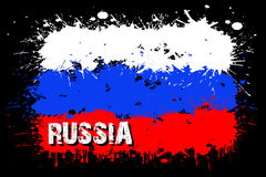 Flag of Russia from blots of paint Royalty Free Stock Photo