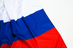 Flag of Russia. Close up shot of wavy flag of Russia Royalty Free Stock Photo