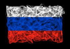 Smoky flag of Russia Royalty Free Stock Image