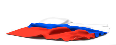 Flag of Russia. 3d rendering Stock Photo