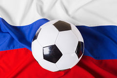 Flag of Russia. With football ball Royalty Free Stock Photo