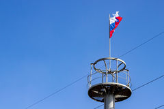 The flag of Russia on the observation deck Royalty Free Stock Images