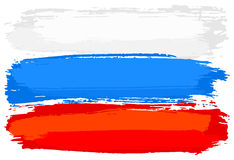 Flag of Russia painted with brush strokes Stock Photos