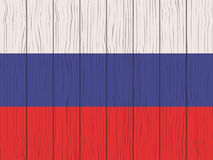 Flag of Russia. Painted on a wooden wall Royalty Free Stock Images