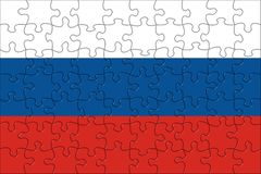Flag of  Russia puzzle Stock Photography