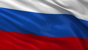 Flag of Russia seamless loop Stock Images