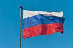 The flag of Russia in the sky Royalty Free Stock Images