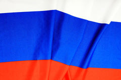 Flag of Russia. Three-colored flag of the Russian Federation stock photography