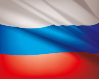 Flag of Russia, vector background Royalty Free Stock Image