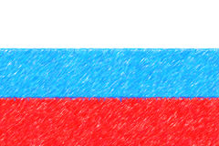 Flag of Russian Federation background o texture, color pencil ef Royalty Free Stock Photo