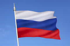 Flag of the Russian Federation. Following the dissolution of the Soviet Union in 1991, this became the civil and state flag of the Russian Federation stock images