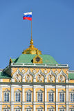 Flag of Russian Federation on Grand Kremlin Palace Stock Image