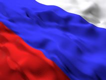Flag of Russian Federation, Russia. 3d beautiful Flag of Russian Federation, Russia Stock Photos