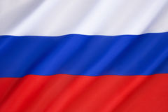 Flag of the Russian Federation. It was not until the dissolution of the Soviet Union in 1991 that the old tricolor (dates from 1696) was brought back as the Royalty Free Stock Photos