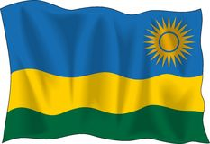 Flag of Rwanda Stock Photos