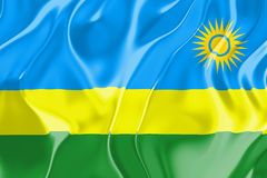 Flag of Rwanda Royalty Free Stock Photo