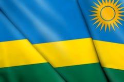 Flag of Rwanda. This is an illustration of folded flag Stock Photos