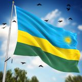 Flag of Rwanda. This is a computer generated and 3d rendered image Stock Photo