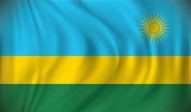 Flag of Rwanda. Vector illustration Stock Photo