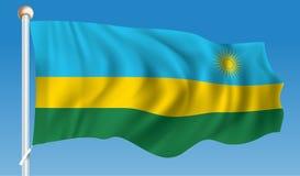 Flag of Rwanda. Vector illustration Royalty Free Stock Photos