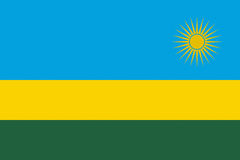 Flag of Rwanda Royalty Free Stock Photos
