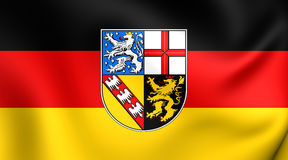 Flag of the Saarland, Germany. Stock Image