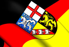 Flag of Saarland, Germany. Royalty Free Stock Image