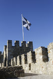 Flag on Saint George Castle Royalty Free Stock Images