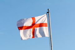 Flag of Saint George in garden of house in England Stock Image