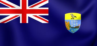 Flag of the Saint Helena. 3D Flag of the Saint Helena. Close Up Royalty Free Stock Photo