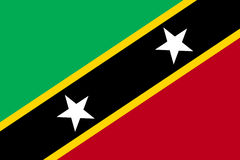 Flag Saint Kitts flat icon Royalty Free Stock Photography