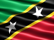 Flag of Saint Kitts and Nevis Royalty Free Stock Photography