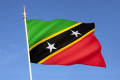 Flag of Saint Kitts and Nevis - The Caribbean Royalty Free Stock Images